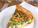 Asparagus, Spinach, & Feta Quiche Recipe | Vegetarian ...