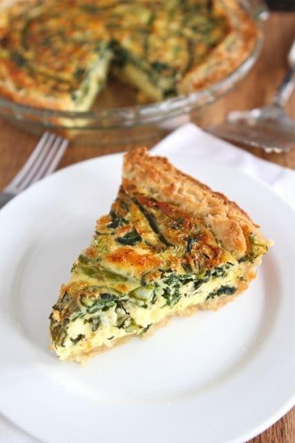 Asparagus, Spinach, & Feta Quiche Recipe | Vegetarian Quiche | Two ...