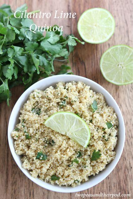 Cilantro Lime Quinoa Recipe | Quinoa Recipe | Two Peas & Their Pod
