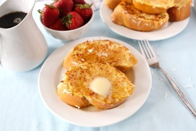 Coconut Crusted French Toast | Coconut French Toast Recipe | Two Peas ...