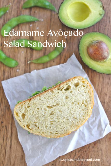 Edamame Avocado Salad Sandwich | Edamame Salad Recipe | Two Peas ...
