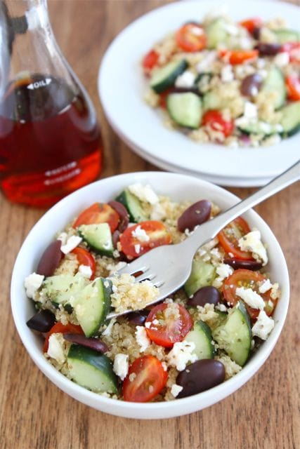Greek Quinoa Salad | Quinoa Salad Recipe | Two Peas & Their Pod