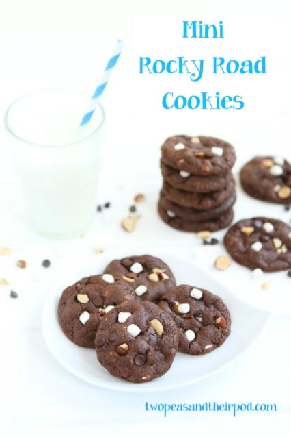 Mini Rocky Road Cookies | Rocky Road Cookie Recipe | Two Peas & Their ...