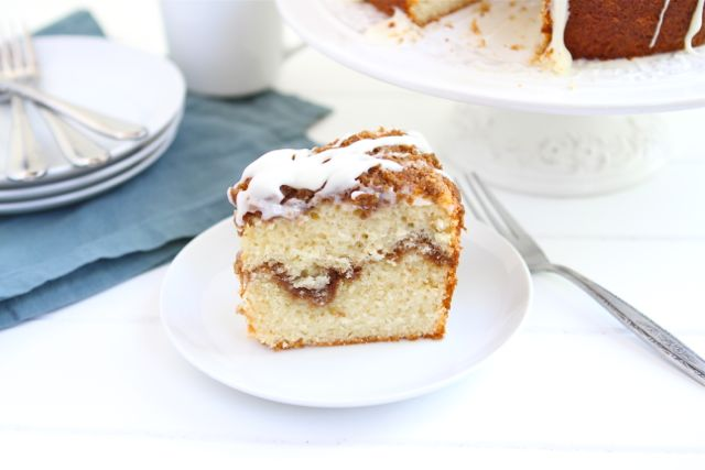 Greek Yogurt Coffee Cake Recipe on twopeasandtheirpod.com #recipe