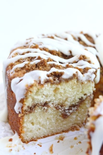 Greek Yogurt Coffee Cake Recipe on twopeasandtheirpod.com #recipe #cake