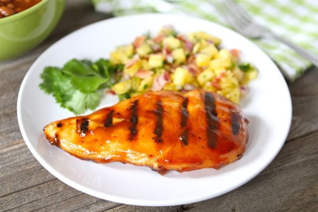 save bbq chicken with pineapple bacon salsa yield serves 4 grilled bbq ...