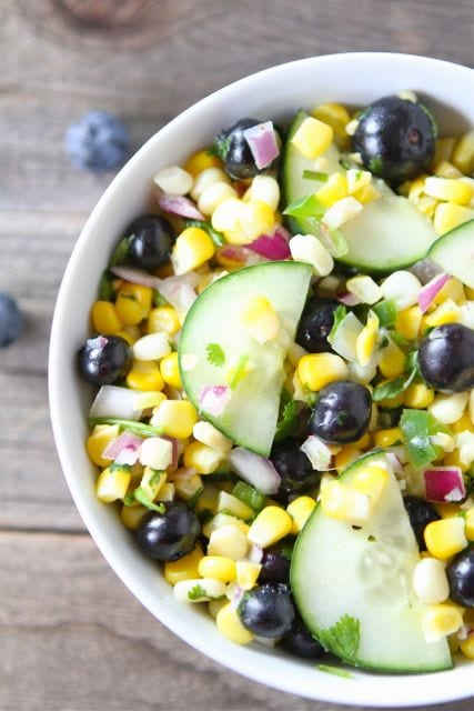Blueberry Corn Salad Recipe | Corn Salad Recipe | Two Peas & Their Pod
