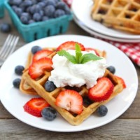 Blueberry Yogurt Waffles (Two Peas and Their Pod)