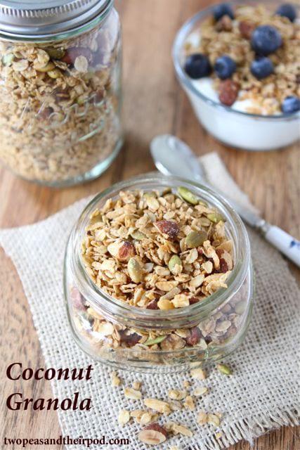 Coconut Granola Recipe | Homemade Granola Recipe | Two Peas & Their ...