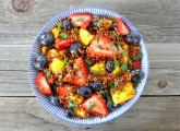 Quinoa Fruit Salad with Honey Lime Dressing | Two Peas & Their Pod