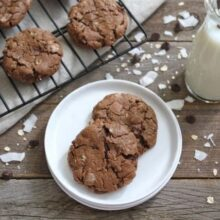 Coconut Oatmeal Chocolate Chip Cookies-Two Peas & Their Pod