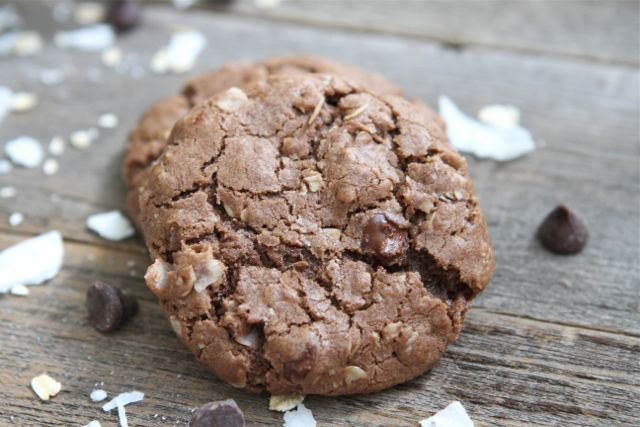 Coconut Oatmeal Chocolate Chip Cookies-Two Peas and Their Pod
