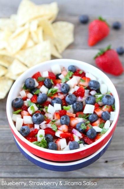 Blueberry Strawberry & Jicama Salsa | Blueberry Salsa Recipe | Two ...