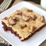 Chocolate Sheet Cake with Peanut Butter Frosting-Two Peas & Their Pod