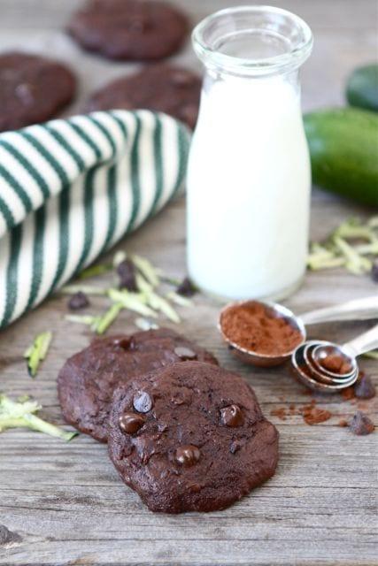 Chocolate Fudge Zucchini Cookies | Zucchini Cookie Recipe | Two Peas ...