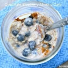 Overnight Blueberry Almond Oats | Two Peas and Their Pod