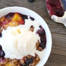Blueberry Peach Crumble-Two Peas & Their Pod