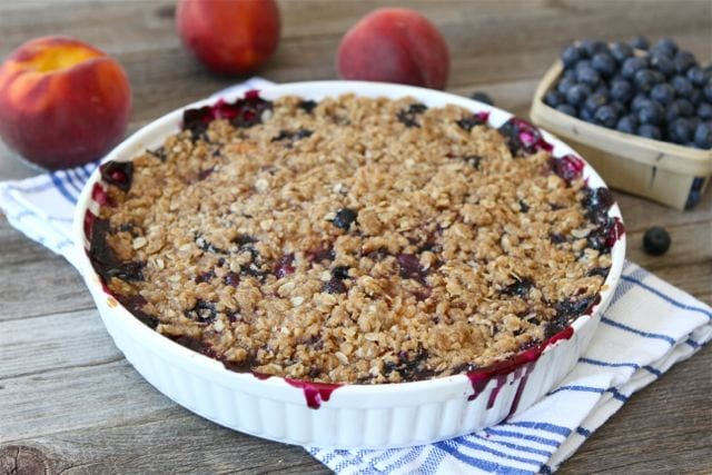 Blueberry Peach Crumble Recipe | Fruit Crumble Recipe | Two Peas ...