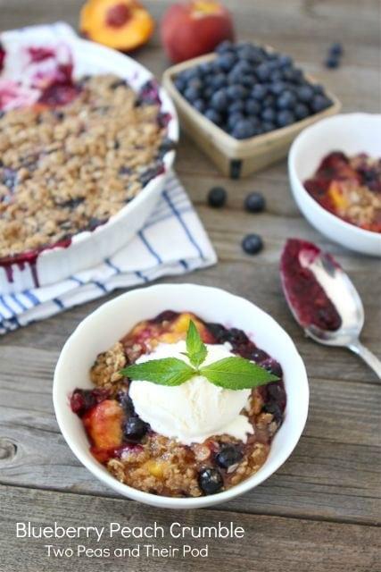 Blueberry Peach Crumble Recipe | Fruit Crumble Recipe | Two Peas ...