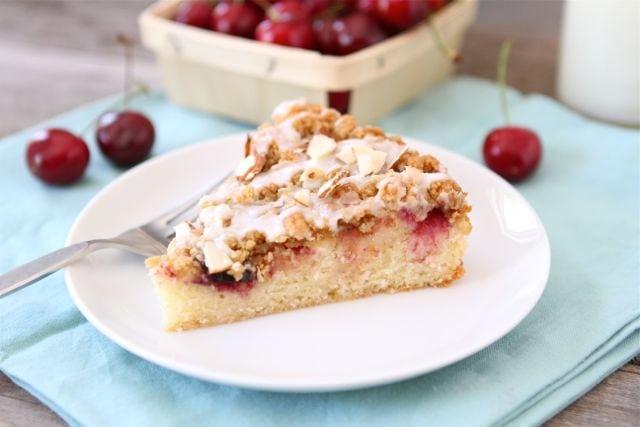 Cherry Almond Cake Recipe | Fresh Cherry Cake Recipe | Two Peas ...