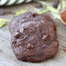 Chocolate Fudge Zucchini Cookies-www.twopeasandtheirpod.com