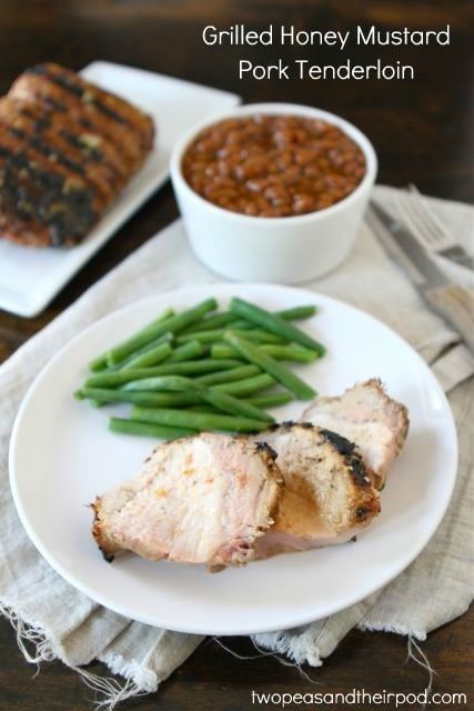 Grilled Honey Mustard Pork Tenderloin | Two Peas and Their Pod