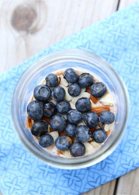 Overnight Blueberry Almond Oats Recipe