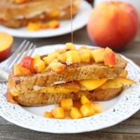 Peaches & Cream Stuffed French Toast (Two Peas and Their Pod)