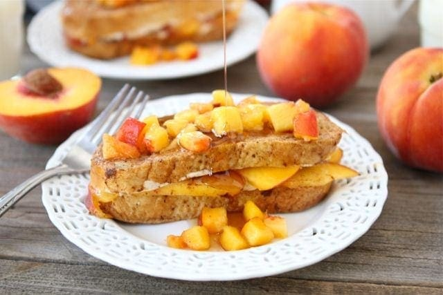 Peaches and Cream Stuffed French Toast | Stuffed French Toast | Two ...