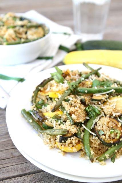 Quinoa with Grilled Vegetables Recipe | Quinoa Salad Recipe | Two Peas ...