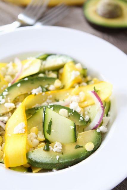 Zucchini Ribbon Salad | Zucchini Salad Recipe | Two Peas & Their Pod