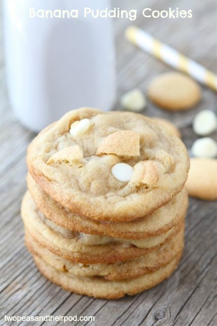 Banana Pudding Cookies | Pudding Cookie Recipe | Two Peas ...