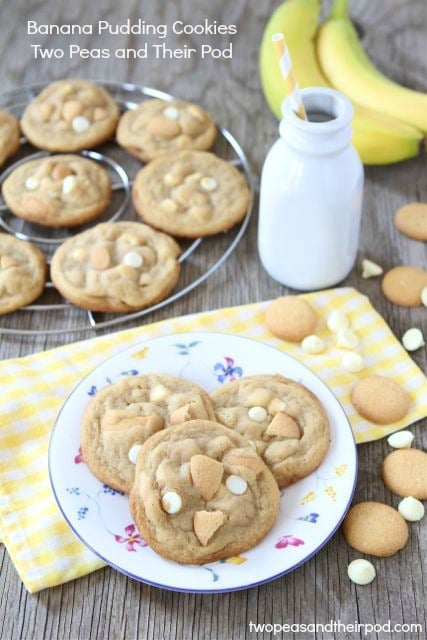 Banana Pudding Cookies | Pudding Cookie Recipe | Two Peas & Their Pod