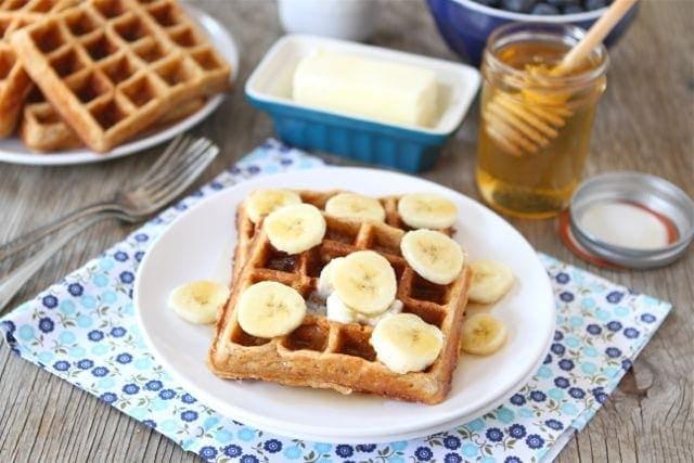 Brown Butter Banana Waffles | Banana Waffle Recipe | Two Peas & Their ...
