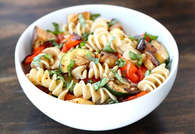 Grilled Ratatouille Pasta Salad | Pasta Salad Recipe | Two Peas ...