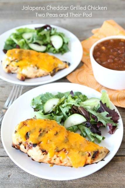 Jalapeño Cheddar Grilled Chicken | www.twopeasandtheirpod.com