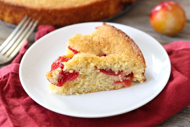 plum and walnut cake lemon cornmeal breakfast cake plum cornmeal cake ...