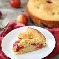 Plum Cornmeal Cake from www.twopeasandtheirpod.com