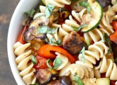 Grilled Ratatouille Pasta Salad | Two Peas and Their Pod #recipe