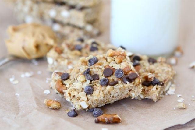 No-Bake Peanut Butter Granola Bars | Homemade Granola Bar Recipe | Two ...