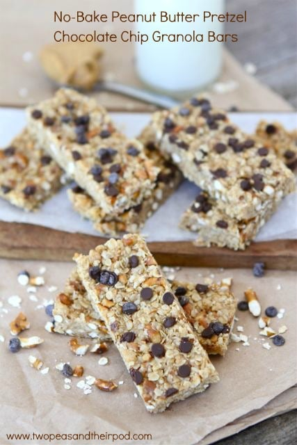No-Bake Peanut Butter Granola Bars | Homemade Granola Bar Recipe | Two ...