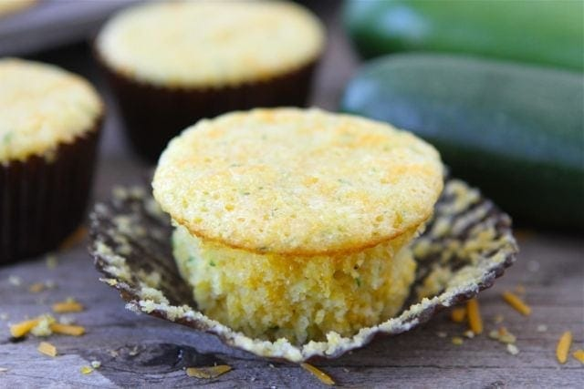 Zucchini Cheddar Corn Muffins | Zucchini Muffin Recipe | Two Peas ...