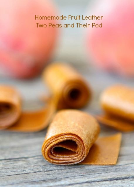 Homemade Fruit Leather Recipe | Homemade Fruit Roll-Ups | Two Peas ...