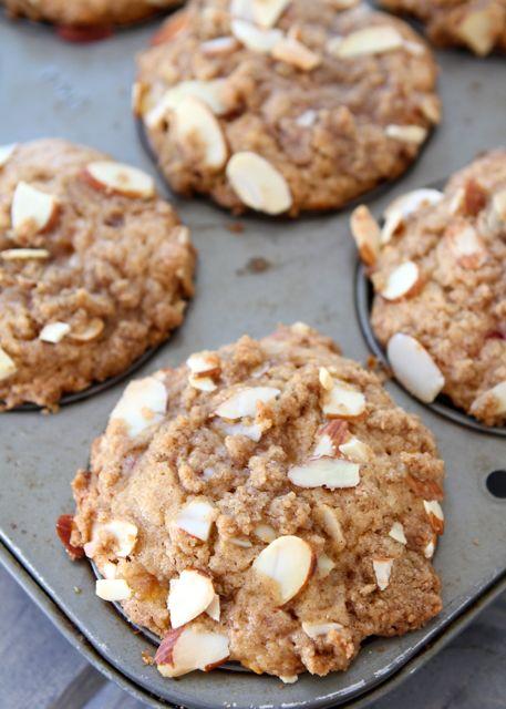 Peach Almond Muffins Recipe — Dishmaps