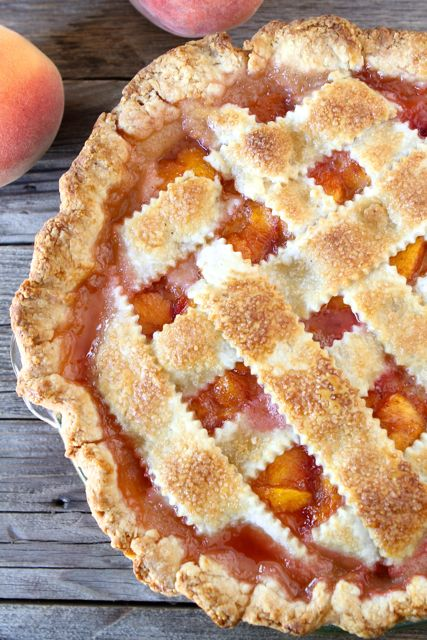 Peach Pie | Perfect Pie Crust Recipe | Two Peas & Their Pod
