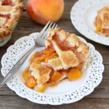 Homemade Peach Pie from www.twopeasandtheirpod.com #recipe #pie
