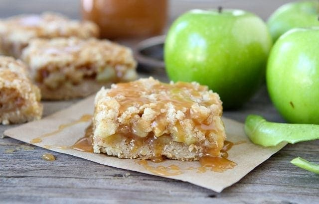 Salted Caramel Apple Crumb Bars | Salted Caramel Sauce Recipe | Two ...
