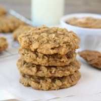 Biscoff Pumpkin Oatmeal Cookies from www.twopeasandtheirpod.com #recipe #pumpkin