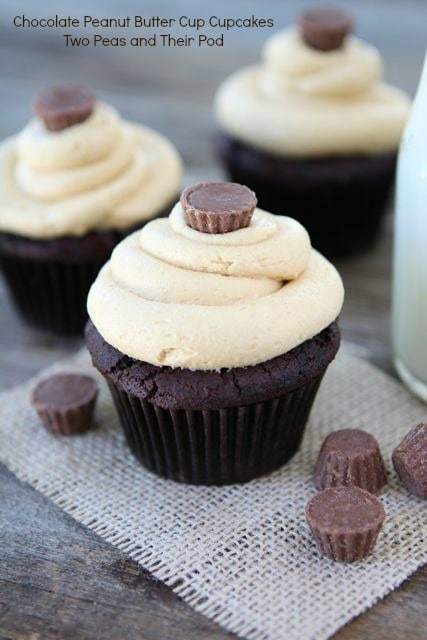 Chocolate Peanut Butter Cup Cupcakes from www.twopeasandtheirpod.com ...