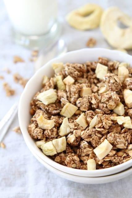 Apple Cinnamon Granola | Homemade Granola Recipe | Two ...